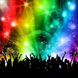 De mensen van de de muziekpartij van de Disco van DJ royalty-vrije illustratie
