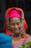 De mensen van de Hmongminderheid in traditionele kleding Sapa, Noordelijke Viet Stock Foto