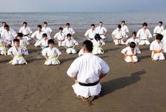 De mensen van de karate Stock Fotografie