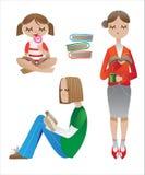 De mensen van de lezing stock illustratie