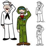 De Mensen van de Luchtmacht van de marine stock illustratie