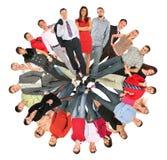 De mensen van de menigte omcirkelen collage royalty-vrije stock foto's