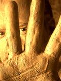 De mensen van de modder (zelfportret) Stock Foto