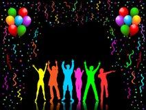 De mensen van de partij het dansen royalty-vrije illustratie