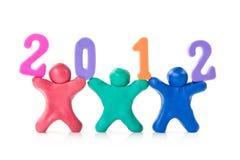 De mensen van de plasticine tonen jaar 2012 Stock Afbeeldingen