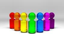 De mensen van de regenboog Stock Foto