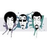 De mensen van de stijlgraffiti van Gunge vector illustratie