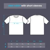 De mensen van de t-shirt met korte kokers. Stock Foto