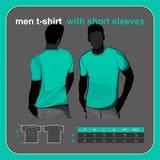 De mensen van de t-shirt steunen en zien op uit Royalty-vrije Stock Afbeelding