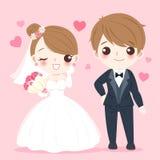 De mensen van het beeldverhaalhuwelijk Stock Afbeeldingen