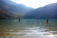 De mensen van het meer stock foto