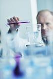 De mensen van het onderzoek en van de wetenschap in laboratorium Stock Foto's