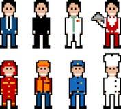 De mensen van het pixel - beroep Stock Afbeelding