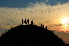 De mensen van het silhouet Stock Fotografie