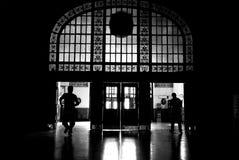 De mensen van het silhouet Stock Foto's
