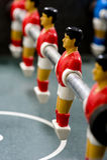 De Mensen van het Voetbal van Foosball of van de Lijst stock fotografie