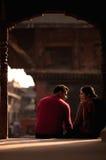 De mensen van Nepal Stock Afbeeldingen