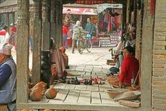 De mensen van Nepal Stock Foto's