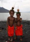De Mensen van Papoea-Nieuw-Guinea Stock Foto