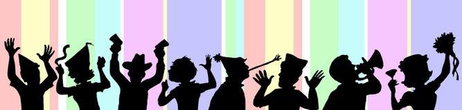De Mensen van Partying Stock Afbeelding