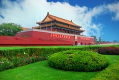 De Mensen van Tian'an met duidelijke hemel Stock Foto's