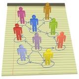 De mensen verbinden bedrijfsnetwerk wettelijk document Stock Afbeeldingen