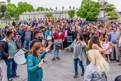 De mensen vieren Hidirellez-Festival in Istanboel, Turkije royalty-vrije stock afbeeldingen