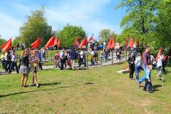 De mensen vieren Victory Day stock fotografie