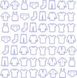 De mensen vormen patroon Lineaire pictogrammen Royalty-vrije Stock Afbeeldingen