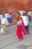 De mensen winkelen binnen Meena Royalty-vrije Stock Afbeeldingen