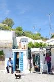 De mensen in Zigeuner hollen Sacromonte, Granada, Andalucia, Spanje uit Stock Foto's