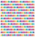 De mensenachtergrond van pictogrammen Royalty-vrije Stock Foto