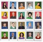 De mensendiversiteit ziet het Menselijke Communautaire Concept van het Gezichtsportret onder ogen royalty-vrije stock afbeelding