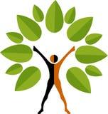 De mensenembleem van de boom vector illustratie