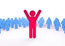 De mensenpictogram van het succes stock illustratie