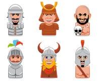 De mensenpictogrammen van het beeldverhaal Royalty-vrije Stock Afbeelding