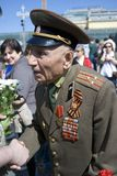 De mensenportret van de oorlogsveteraan Stock Fotografie