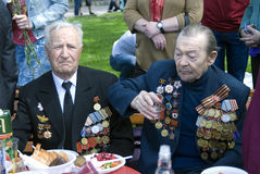 De mensenportret van oorlogsveteranen Royalty-vrije Stock Afbeelding