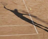 De mensenschaduw van het tennis Royalty-vrije Stock Afbeeldingen