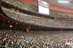 De mensentextuur van de stadionmenigte Royalty-vrije Stock Afbeelding