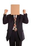 De mensenviering van de doos Stock Fotografie