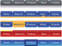 De menu's van de website vector illustratie