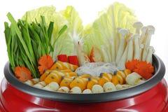 De pot van Sukiyaki Stock Afbeeldingen