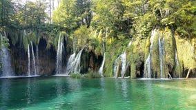 De meren Kroatië van watervallenplitvice stock afbeelding