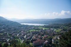 De meren van Avigliana Stock Afbeelding