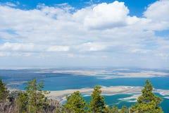 De meren van Kazachstan stock foto's