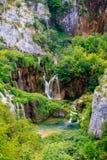 De meren van Plitvice Stock Foto's