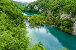 De meren van Plitvice in Kroatië Stock Afbeeldingen