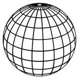 De meridianen van de bol/het model van de Aarde stock illustratie