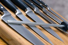 De Messen van de keuken Stock Afbeelding